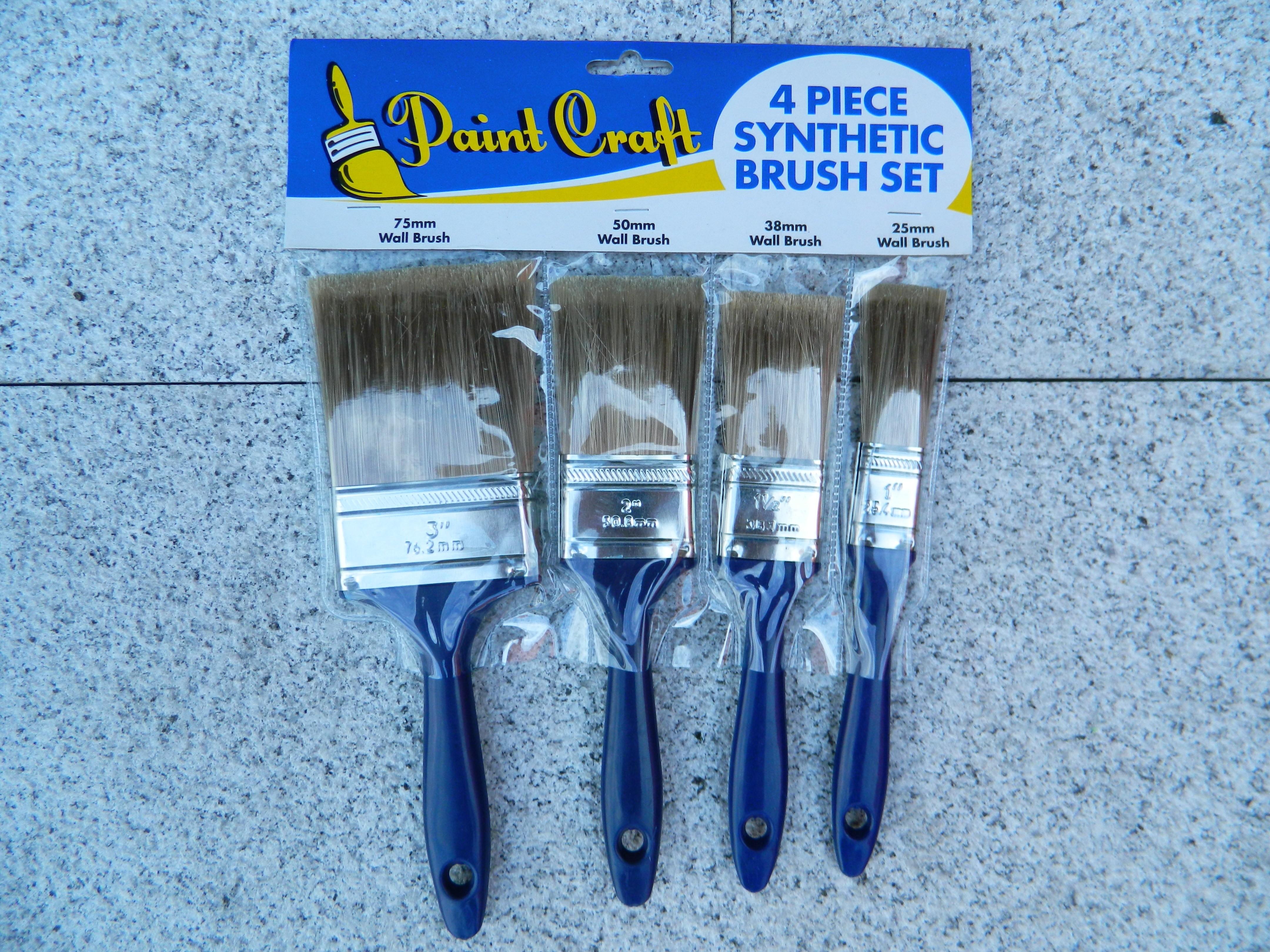4 Piece Synthetic Brush Set