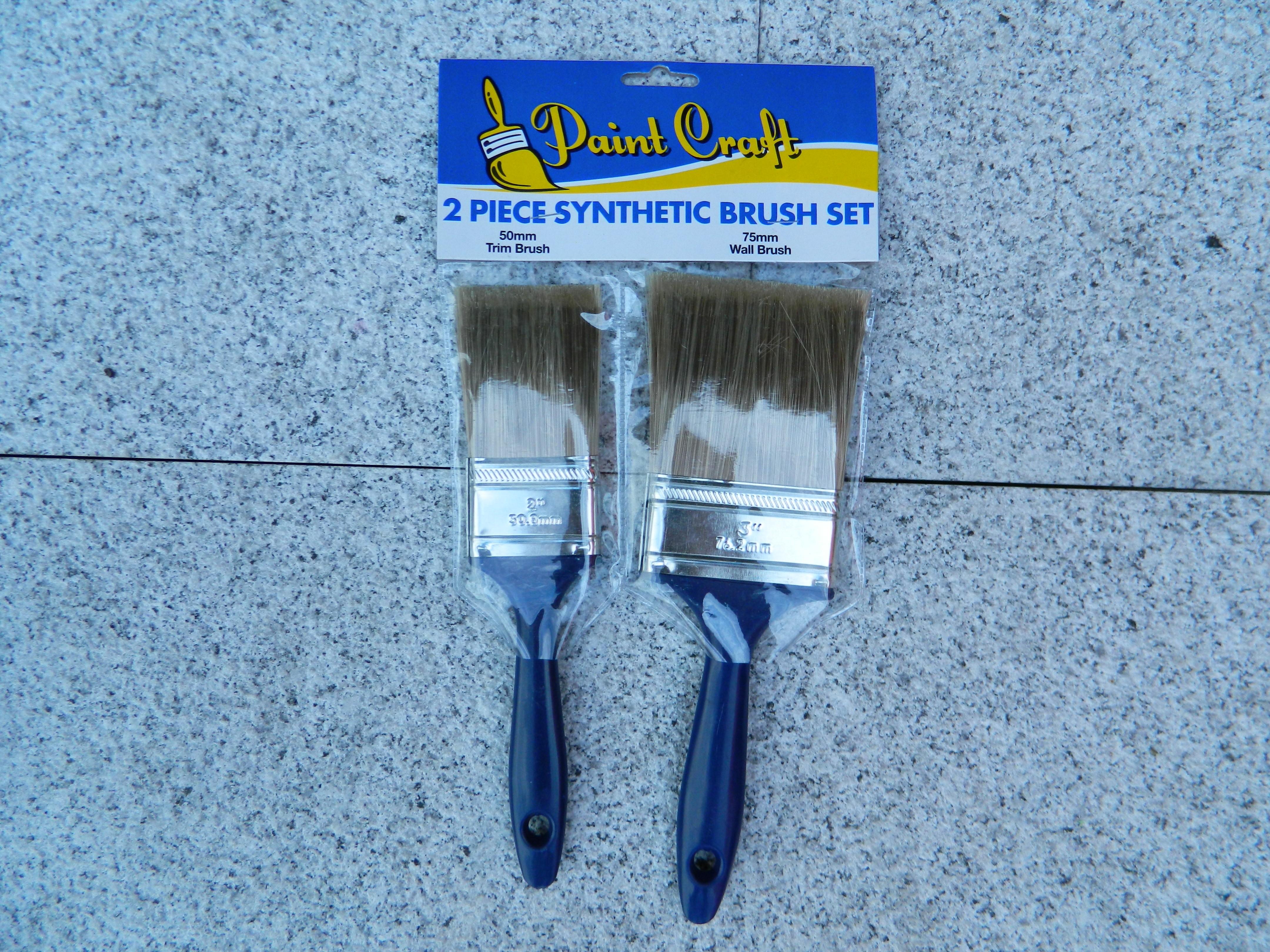 2 Piece Synthetic Brush Set
